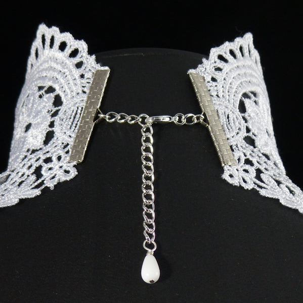 Odile Wide Lace Choker (in Black or White)