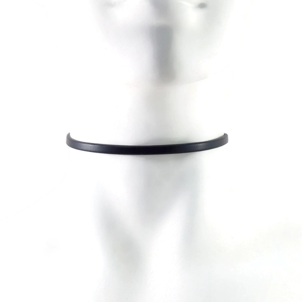 thin leather choker necklace neck band for women made in usa