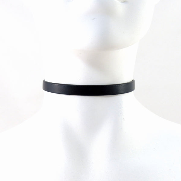 black leather choker necklace by arthlin jewelry for women