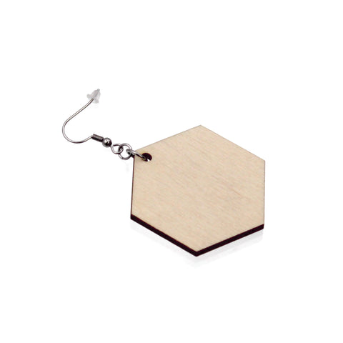 Jewelry Making Kit - 30 Wooden Hexagon Earrings
