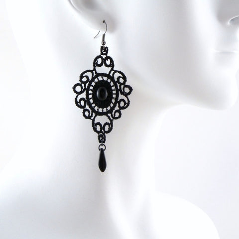 Elie Medallion Lace Earrings