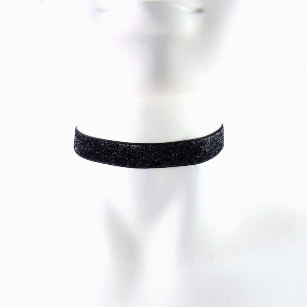 sparkly black choker from arthlin jewelry handmade in USA