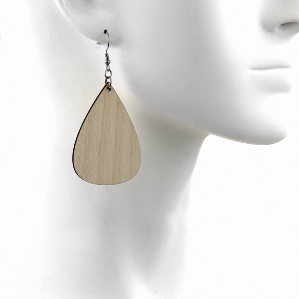 Jewelry Making Kit - 30 Wooden Teardrop Earrings