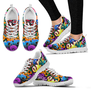 Graffiti Word Art - Sneakers , Running Shoes