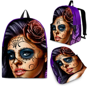 Calavera Graffiti Art Custom Design Backpack