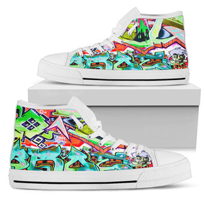 Women Graffiti Modern Art Hightop Canvas Shoes - Brae