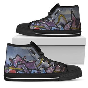 Graffiti Wall Art Modern Design - Running Shoes Sneakers
