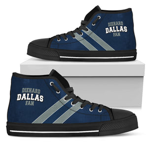 Diehard Dallas Fan High Top Shoes