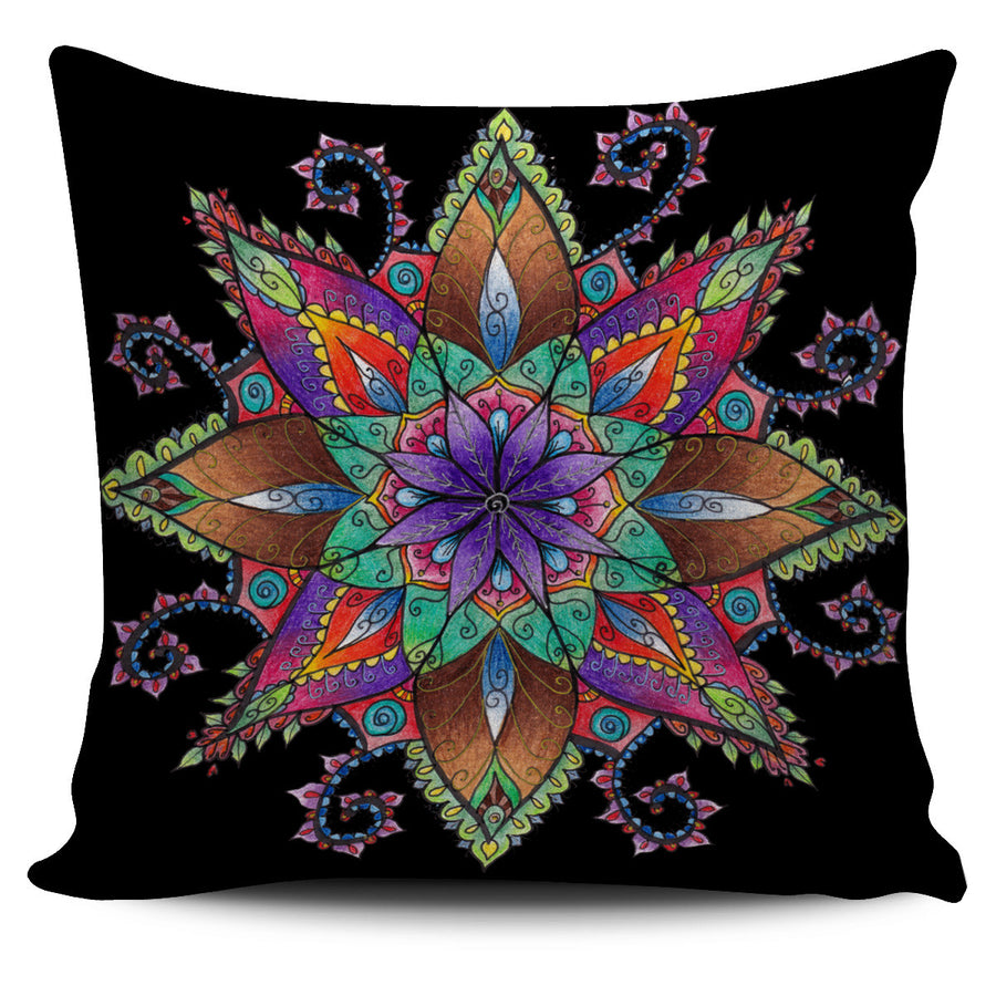 Pillow cover-Yoga Mandala1