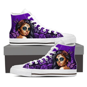 Calavera Graffiti Art Women's High Top Shoes