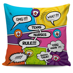 Texas Nurse Pillow Case