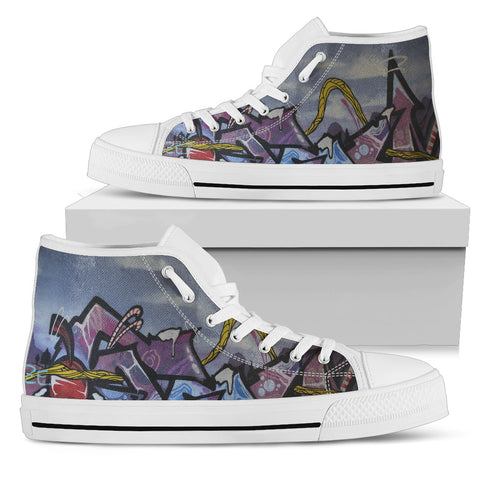 Image of Graffiti Wall Art Modern Design - Running Shoes Sneakers
