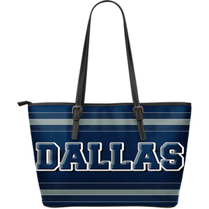 Dallas Fan Large Leather Tote Bag