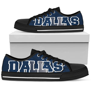 Dallas Fan Low Cut Canvas