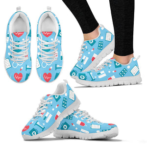 Custom Nurse Print Sneakers