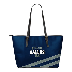 Diehard Dallas Fan Leather Tote Bag