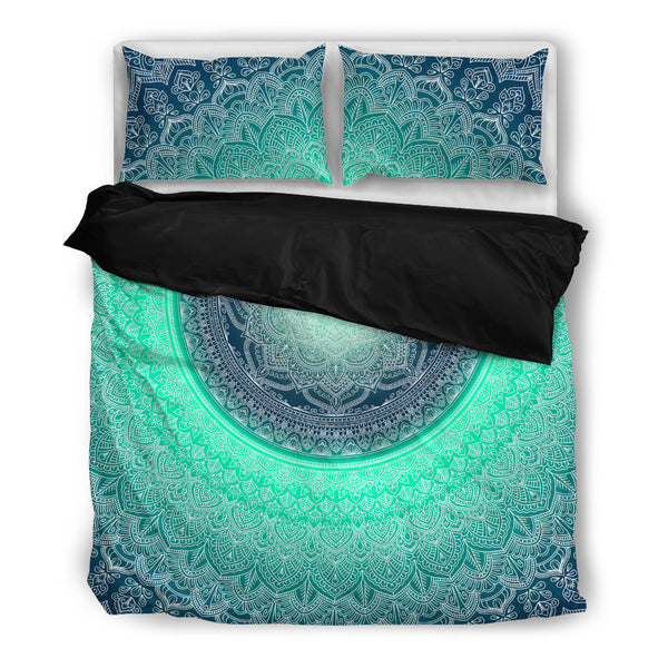 Blue Mandala- Duvet Cover Set(Black)