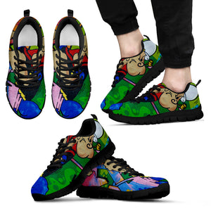 Popeyes Graffiti Art Sneakers Black