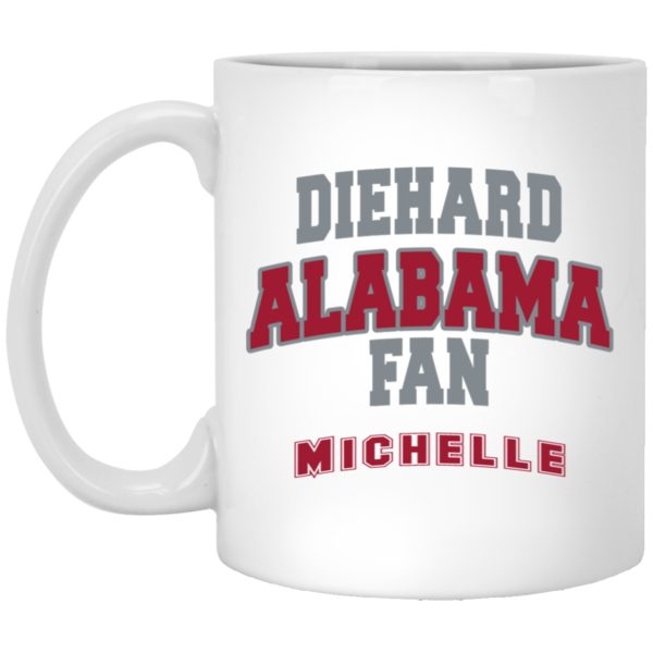 Alabama Personalized 11 oz. White Mug