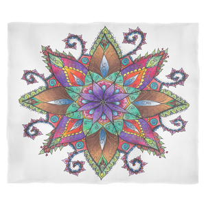 Colorful Mandala Fleece Blanket