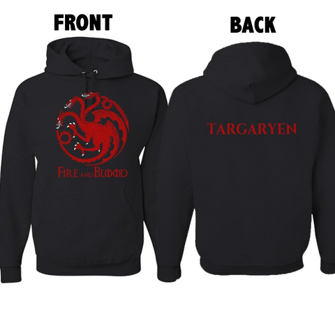 Image of Game Of Thrones Adult Hoodie - GOT Fans House Targaryen Design