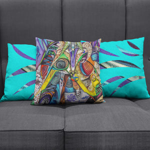 Colorful Graffiti Modern Art Pillow Cover