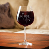 Custom Nurse Hat Stetho Red Wine Glass