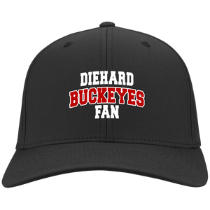 Buckeyes Port Authority Flex Fit Twill Baseball Cap
