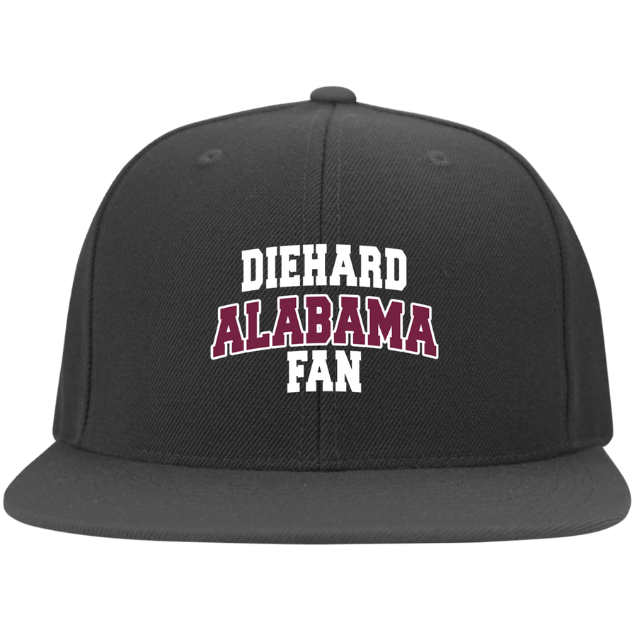 Alabama Embroidery Yupoong Flat Bill Twill Flexfit Cap