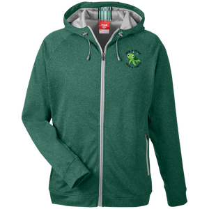 Save A Turtle Team 365 Men's Heathered Performance Hooded Jacket
