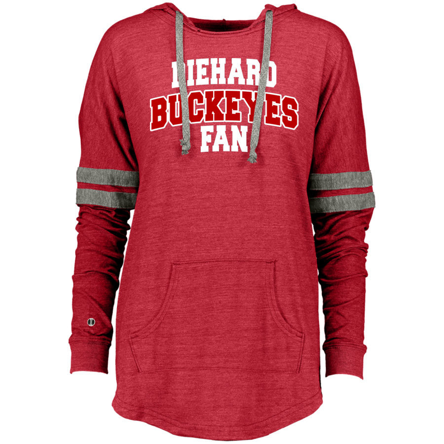 Buckeyes Holloway Ladies Hooded Low Key Pullover