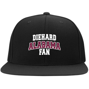 Alabama Embroidery Sport-Tek Flat Bill High-Profile Snapback Hat