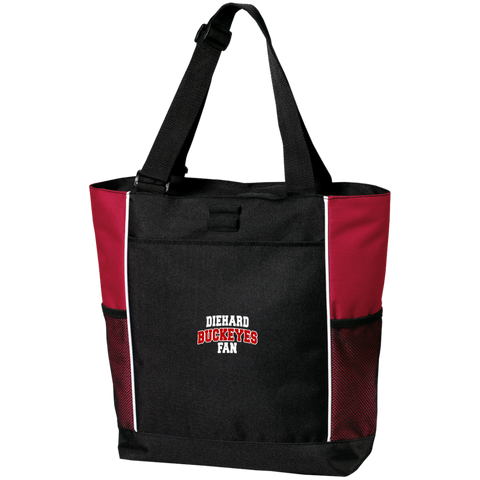 Buckeyes Port Authority Colorblock Zipper Tote Bag