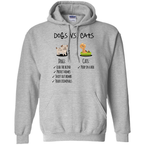 Dogs Vs Cats Pullover Hoodie 8 oz.
