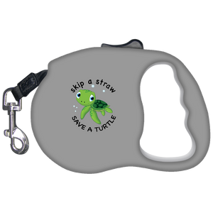 Save A Turtle Retractable Dog Leash