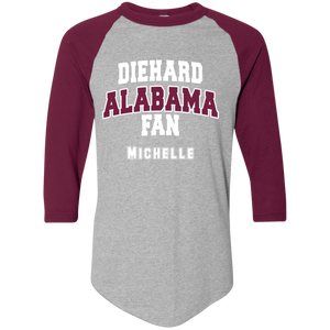 Alabama Personalized Augusta Colorblock Raglan Jersey