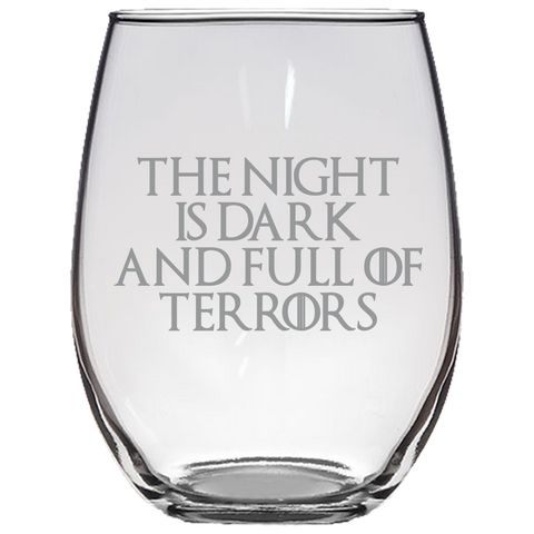 Game Of Thrones Stemless Wine Glasses Laser Etched, best Quality GOT Famous Quotes