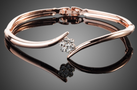 Elegant Pink Gold Bracelet Offer