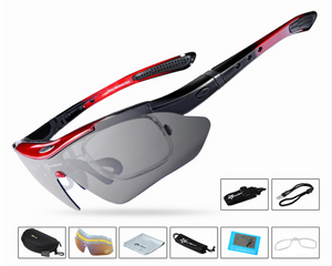 Polarized Cycling Bike Sun Glasses Outdoor Sports Bicycle Bike Sunglasses 5 Lenses