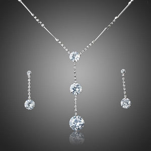 Hot  Austrian Crystal  Water  Drop Earrings and Necklace  Set