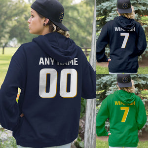 Personalized Notre Dame Fans Adult Hoodie - Front & Back Design