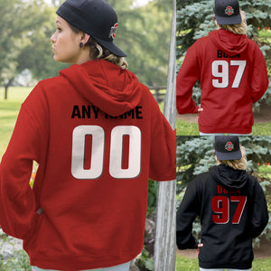 Personalized Ohio State Fans Adult Hoodie - Front & Back Design