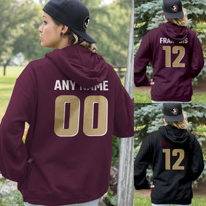 Personalized Florida Seminoles Adult Hoodie - Any Name & Number