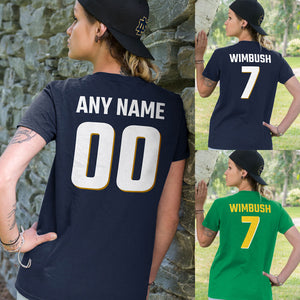 Personalized Notre Dame Fans Adult Unisex T-Shirt - Front & Back Design