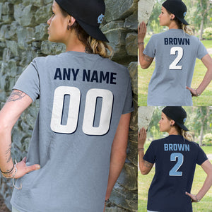 Personalized North Carolina Tar Heels Adult Unisex T-Shirt - Any Name & Number