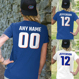 Personalized Florida Gators Adult Unisex T-Shirt - Any Name & Number