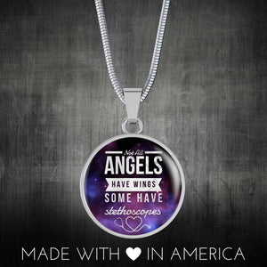Luxury Nurse Necklace - Not All Angels Have Wings, Silver