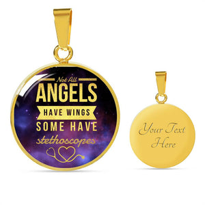 Nurse Necklace And bracelet Gold - Not All Angels Have Wings