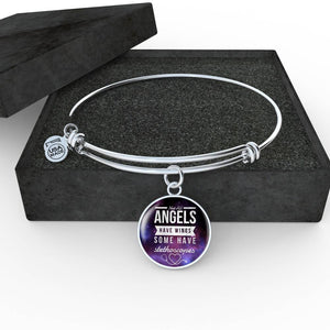 Luxury Nurse Bangle - Not All Angels Have Wings, Silver