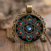 Beautiful Mandala Brass Pendant Necklace